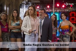 Nádia flagra Gustavo no bordel