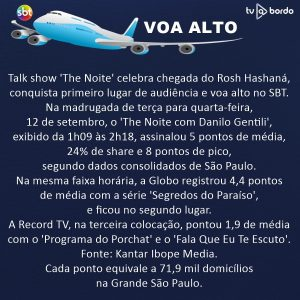 talk show the noite celebra chegada do Rosh Hashaná