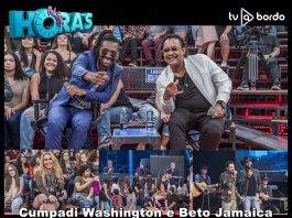 Cumpadi Washington e Beto Jamaica celebram Dia do Amigo no 'Altas Horas'