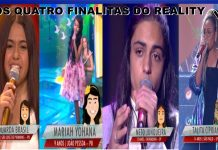 Os quatro finalistas do the voice kids