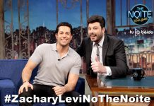 Zachary Levi no The Noite