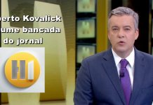 Roberto Kovalick assume bancada do jornal HORA 1