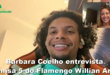 Barbara Coelho entrevista camisa 5 do Flamengo Willian Arão
