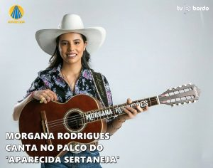 'Aparecida Sertaneja': Morgana Rodrigues canta no palco do programa